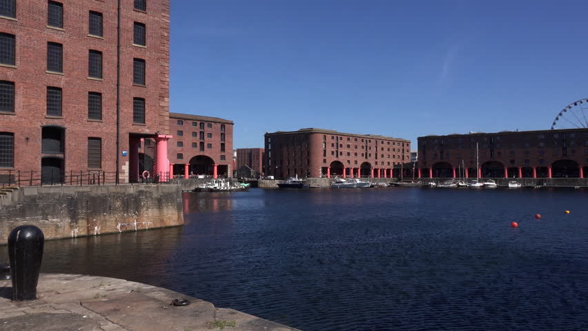 Albert docks in Liverpool city 4K