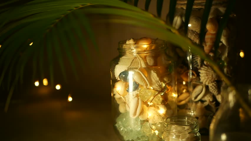 tropical home decor items glass jar of tropical shells for home decor marine style home  glass jar of tropical shells for home