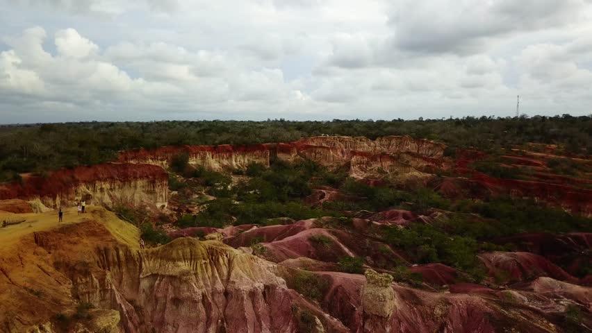 Hellskitchen (Africa) From the top (RedTech) (Slowmo) (Drone) | Shutterstock HD Video #1013197436