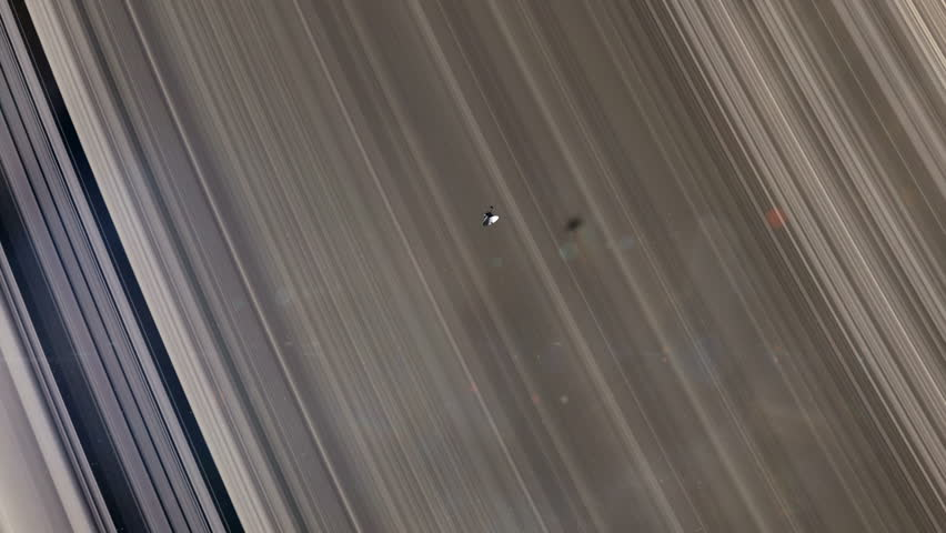 Voyager Probe at Saturn's Rings 2