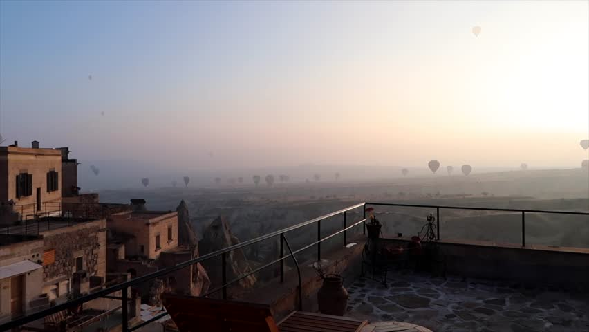 cappadocia hot air balloon timelapse #1013224664