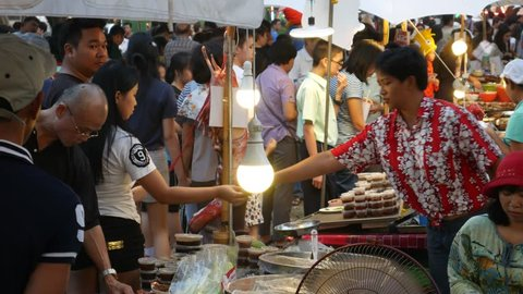 Bangkok, Thailand-January 20, 2018: Street food in Bangkok