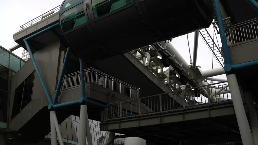 Amusement park. Ferris Wheel Cabin