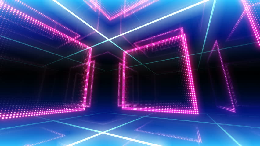 Disco club room space illumination neon light floor wall background | Shutterstock HD Video #1013266376