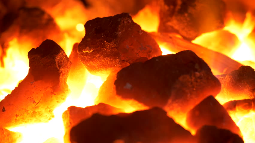Blacksmithing: macro of the coal forge in UHD | Shutterstock HD Video #1013298386