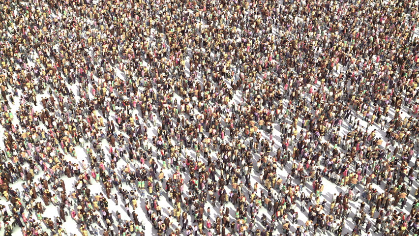 Over Populated World. New Customers. Growth of the Population. Overpopulation. Royalty-Free Stock Footage #1013299460