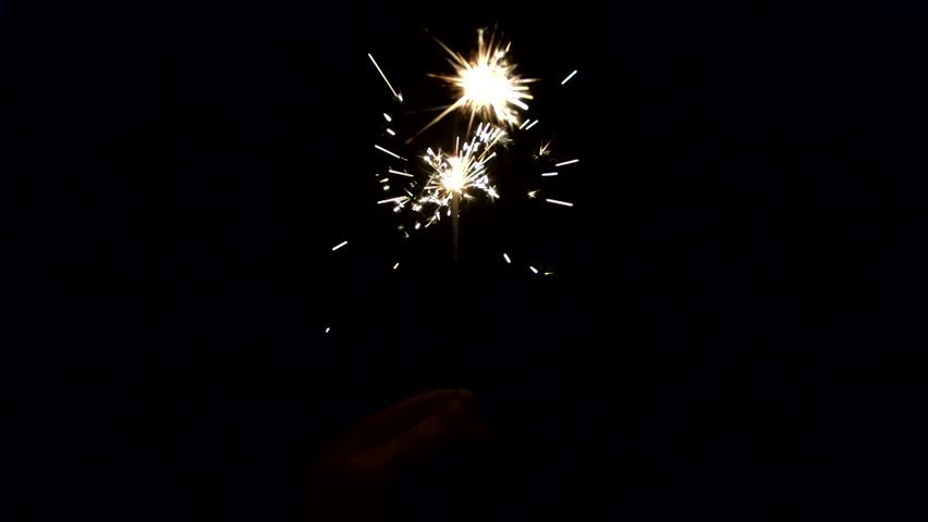 Sparkler in slow motion