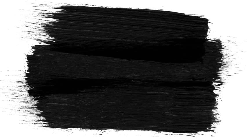 Animation grunge - brush stroke on a white background. Abstract hand - painted element. Grunge brush strokes animation. Ink splash on black background. Underline and border design. Grey and black