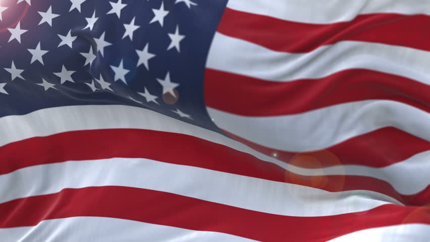Seamless American Flag Slow Waving with visible wrinkles.Close up of UNITED STATES flag.usa,A fully digital rendering,The animation loops at 20 seconds.flag with alpha channel included. cg_06286_4k | Shutterstock HD Video #1013370128