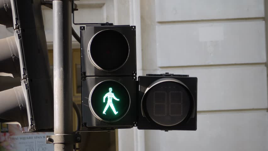 Crossroad red light and timer in London | Shutterstock HD Video #1013384558