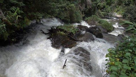 Beautiful waterfall slow motion