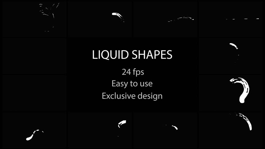 Liquid Shapes Pack. Hand drawn and frame by frame animated. Just drop elements to your project. Easy to customize with your favorite software. Alpha channel included. More elements in our portfolio