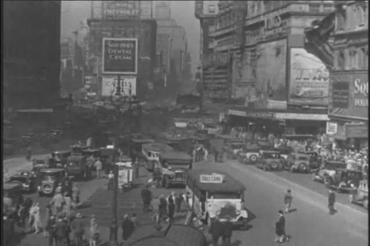 CIRCA 1920s - Driving the streets of New York City in 1928