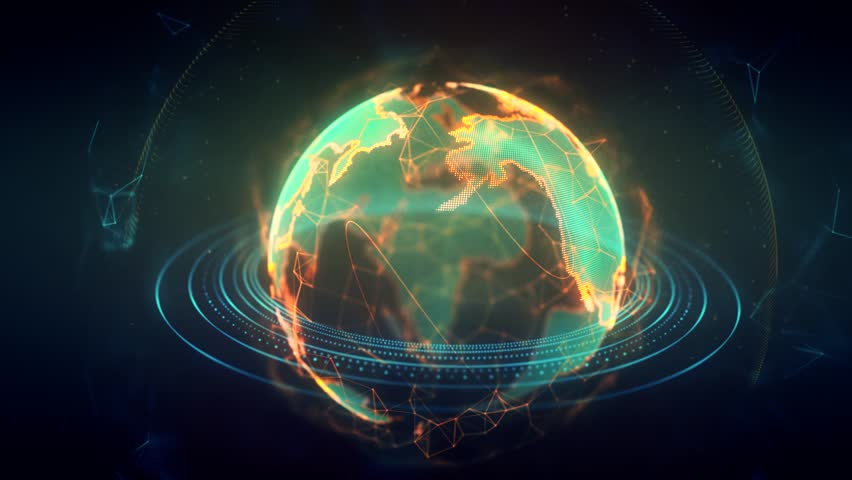 Looped video of the earth made up of particles   Shutterstock HD Video #1013568419