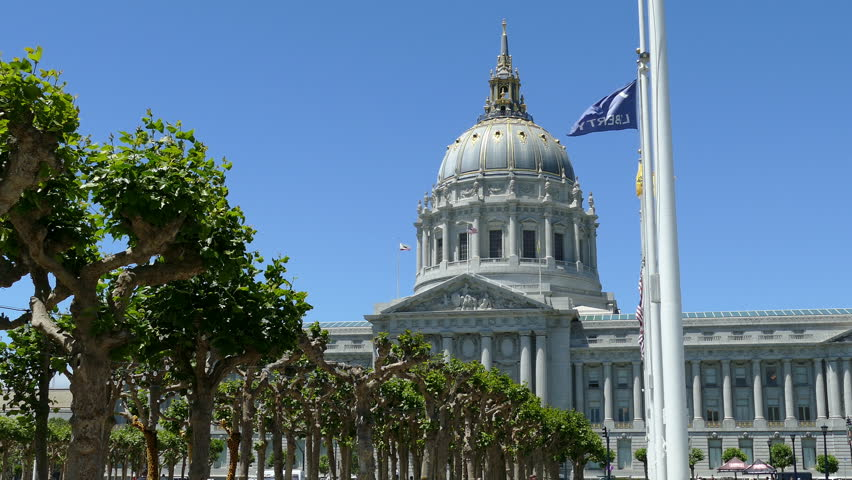 San Francisco City Hall, California Royalty-Free Stock Footage #1013591795