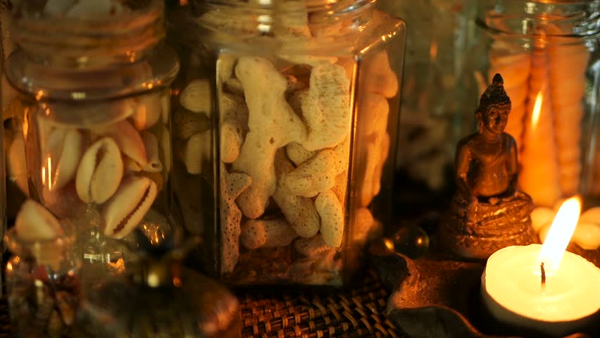 Glass Jar Of Tropical Shells Stock Footage Video 100 Royalty Free 1013600153 Shutterstock