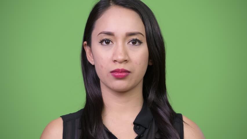 Young beautiful Asian businesswoman looking bored | Shutterstock HD Video #1013619449