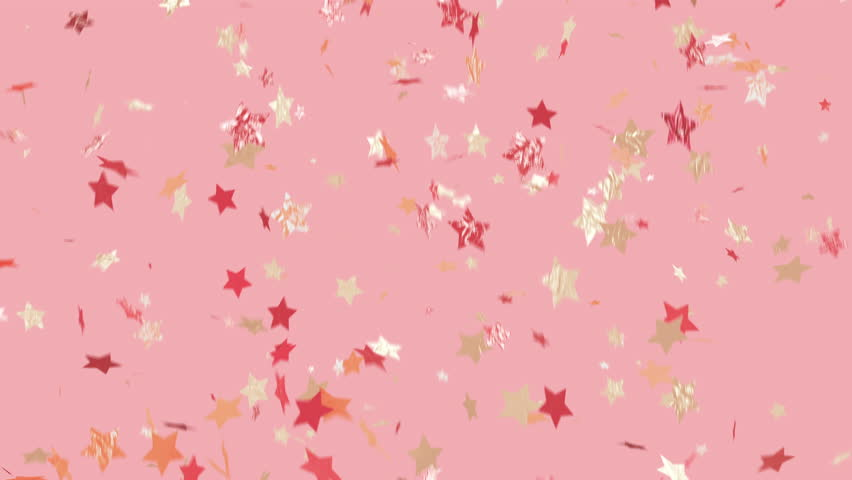 Party like a star!! Trendy, glam, modern looking, and loopable. Multi-color star shaped confetti over background. See portfolio for similar and much more! | Shutterstock HD Video #1013655797