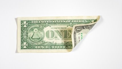 Real estate funding concept. Origami House, made of Dollar Bill. 4k Stock Video Clip