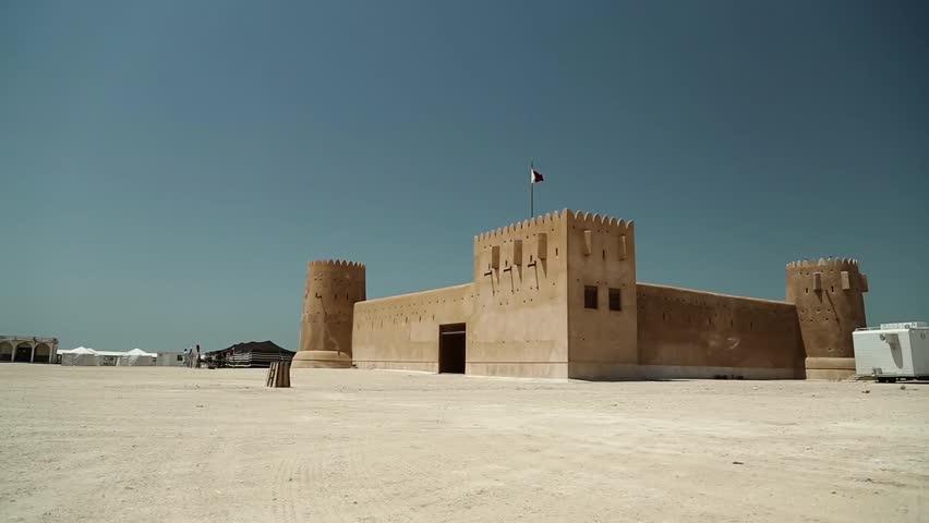 Al Zubara Fort or Al Zubarah Fort - historic Qatari military fortress built in the time of Sheikh Abdullah bin Jassim Al Thani in 1938, Qatar, Persian Gulf, Arabian Peninsula, Middle East