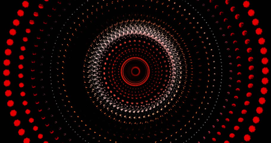 Visual loop for circular diamonds moves like waves for Background Visual Graphic - Red and Orange