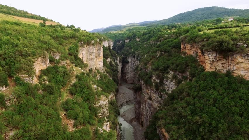 Canyon Albania aerial footage