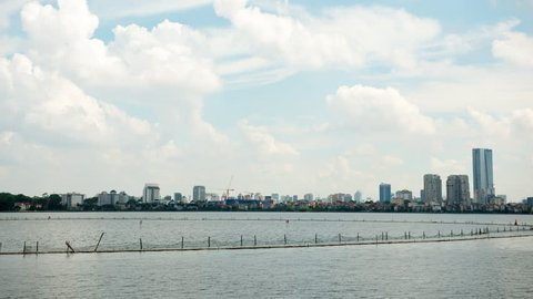 4K Time Lapse of Thuy Khue / Tay Ho Waterfront in Hanoi Vietnam