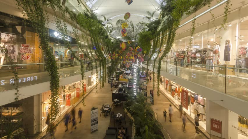 Playa del Carmen Mexico shopping center inside with local and tourist | Shutterstock HD Video #1013807519