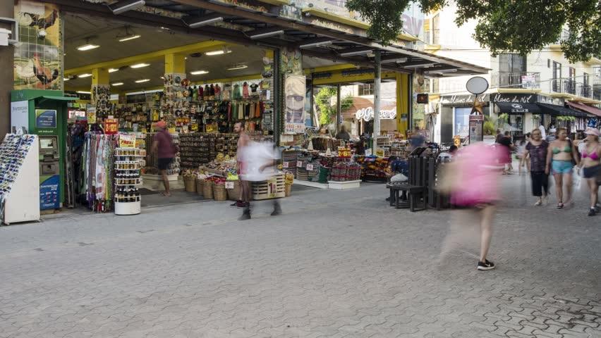 Handcraft store on the 5th avenue Playa del Carmen mexico | Shutterstock HD Video #1013821628