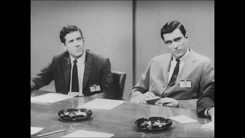 CIRCA 1960s - Loose lips reveal communist secrets when a diplomat starts talking on a transcontinental plane flight in 1964.