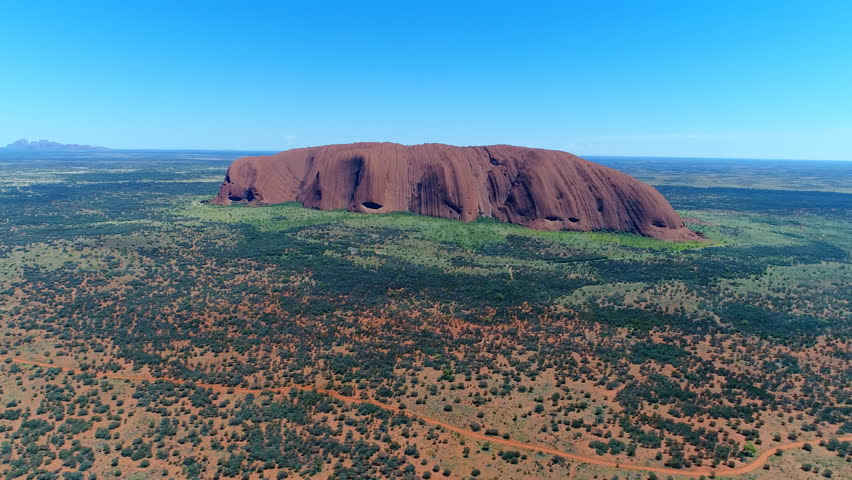 Aerial panoramic view of interesting rock formations in Australian bush - Oceania, landscape of Australia from above