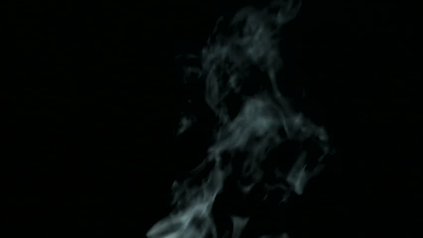 Real light steam rises thickly on a black isolated background.  | Shutterstock HD Video #1013983604
