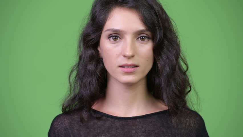 Young beautiful woman showing three wise monkeys concept | Shutterstock HD Video #1013990450