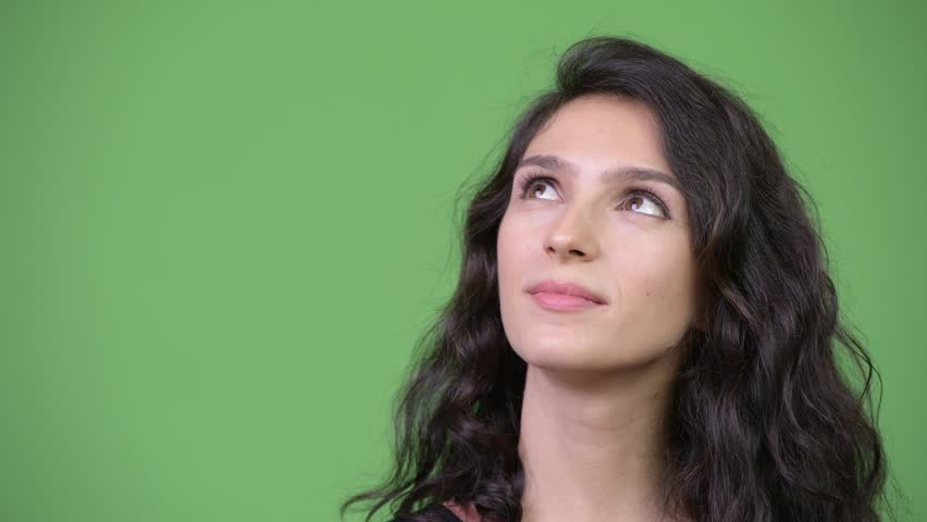 Young beautiful woman thinking | Shutterstock HD Video #1013990495