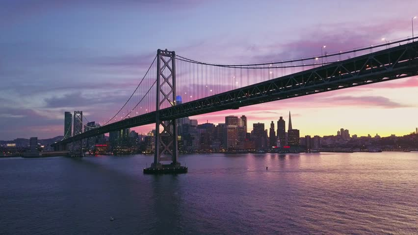 Aerial cityscape video of San Francisco at sunset | Shutterstock HD Video #1014006320