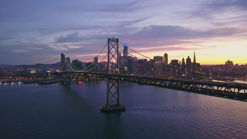 Aerial cityscape video of San Francisco at sunset | Shutterstock HD Video #1014006326