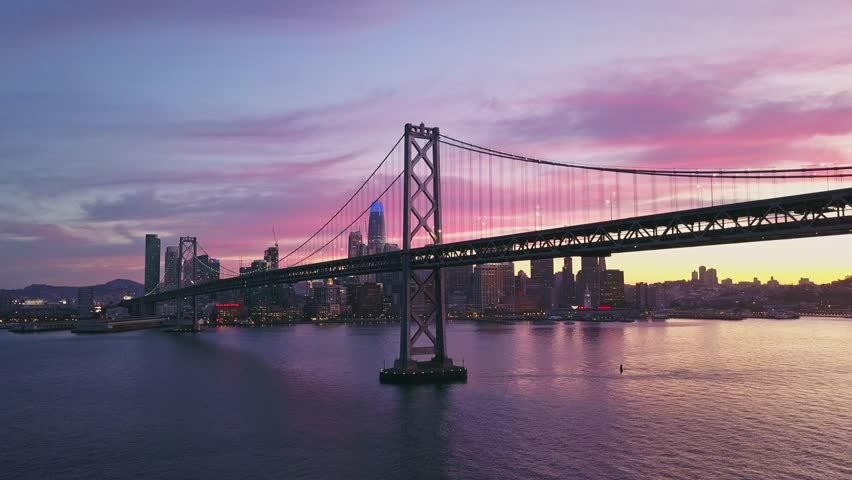 Aerial cityscape video of San Francisco at sunset | Shutterstock HD Video #1014006335