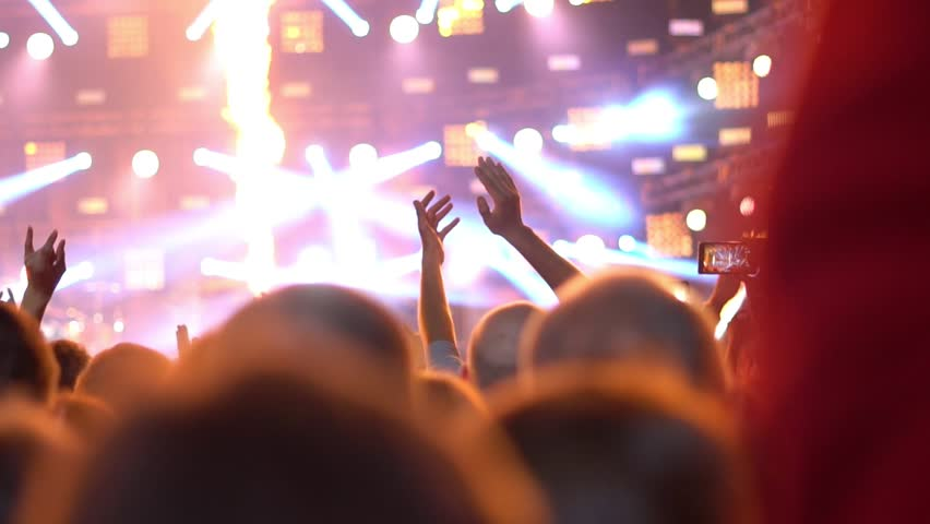 People at a rock concert | Shutterstock HD Video #1014086066