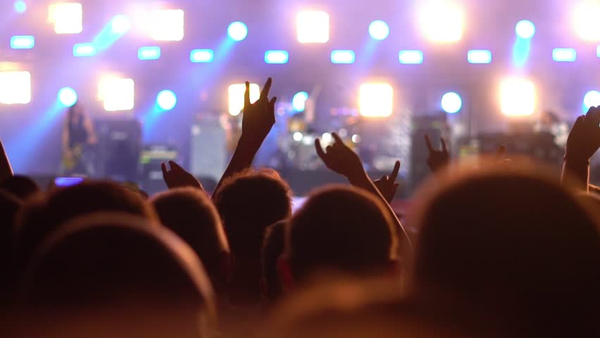 People at a rock concert | Shutterstock HD Video #1014086075