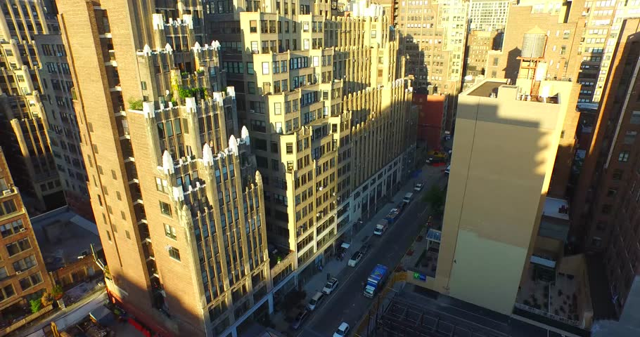 4K Aerial Flying Towards the Empire State Building | Shutterstock HD Video #10140962