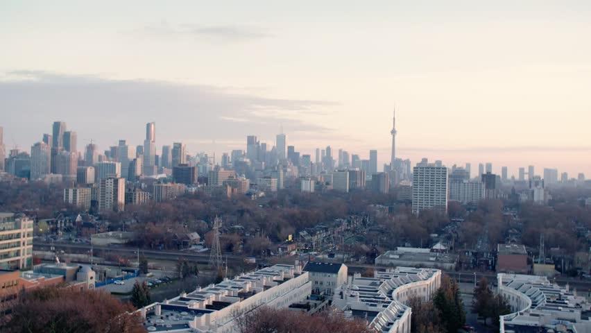 Toronto, Ontario / Canada - December 2017: Toronto Skyline in Winter   Shutterstock HD Video #1014149474