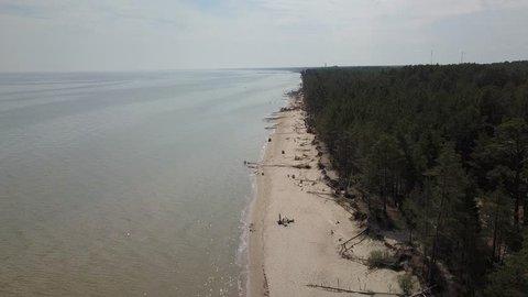 Aerial view of cape Kolka, Baltic sea, Latvia