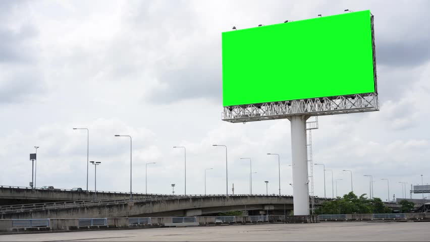 Billboard or advertising poster on highway for advertisement concept background | Shutterstock HD Video #1014176666