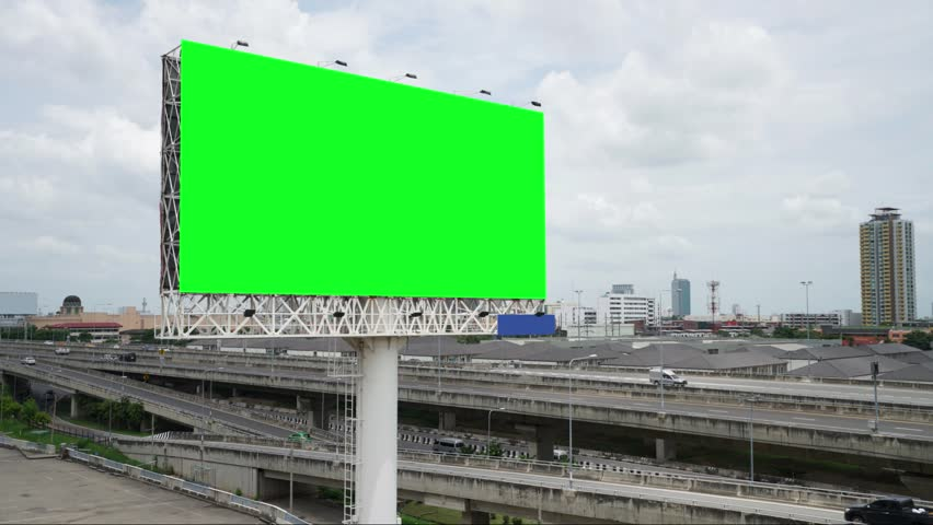 Billboard or advertising poster on highway for advertisement concept background | Shutterstock HD Video #1014176672