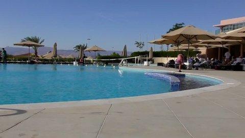Beach resort in Aqaba, Jordan, 2016