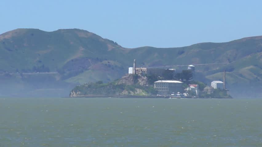 Alcatraz Island, as seen from Treasure Island, San Francisco, California, USA | Shutterstock HD Video #1014222746