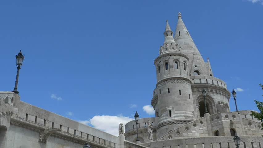 Famous Fisherman Bastion at Buda Castle, in Budapest, Hungary.  | Shutterstock HD Video #1014222767