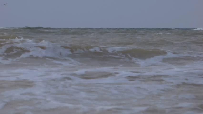 Sea sand wave coast   Shutterstock HD Video #1014295187
