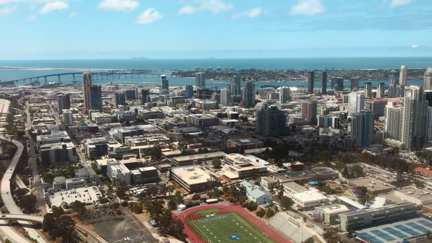 Arial View of Downtown San Diego