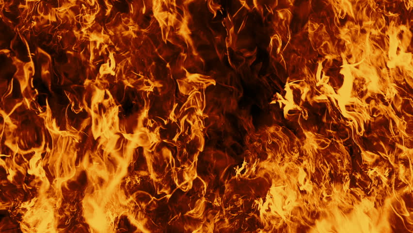 Looping Fire Flames. Perfect for composite the flames over your own footage. Fire wall in slow motion seamless loop isolated, Hell fire burning up, shooting with high speed camera. Royalty-Free Stock Footage #1014342566